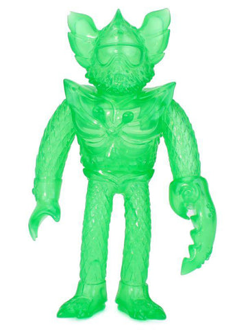 Gravy Toys Bwana Spoons Lonny Clear Emerald Green Sofubi Unpainted Blank Designer Toy Figure