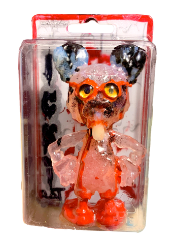 ICKY RAT Super Nerd AEQEA Custom Artist Figure Resin Art Toy with Hand-Painted Cardback