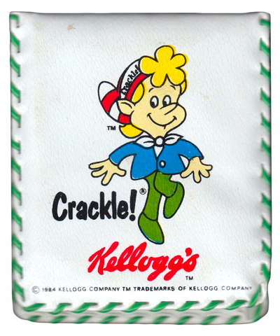 Kellogg's Rice Krispies Snap Crackle Pop! Vintage Retro 1984 Vinyl Wallet Billfold