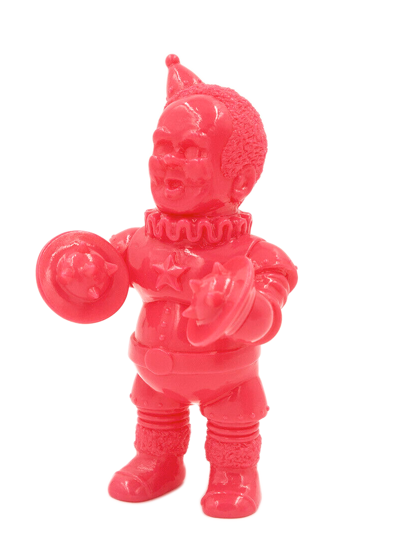 Kikkake Iron Clown Mini Unpainted Pink Sofubi Monkey Kaiju Designer Toy Soft Vinyl Figure