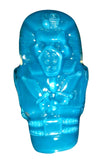 KtoKto Mummy Sofubi Monster Finger Puppet Blue Soft Vinyl Designer Toy Figure