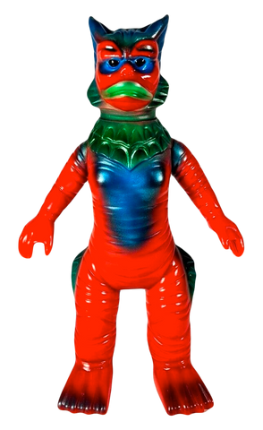M1Go Ragon Sofubi Kaiju GID Krotpong Customized Soft Vinyl Designer Toy Ultraman Figure