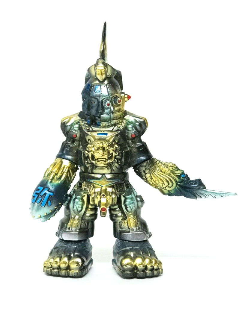 Mirock Toy Massive Attack Golden Bomber Sofubi Custom Painted Japanese Designer Toy