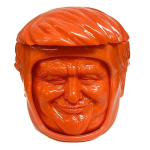 Make America Play Thing Lil' Prezzy Head Changing Sofubi Cheetoh Colorway Soft Vinyl Designer Toy Figure.jpg