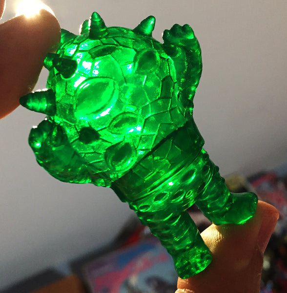 Max Toy Co. Micro Kaiju Eyezon Green Clear Sofubi Monster Unpainted Sofvi Soft Vinyl Designer Toy