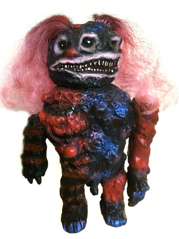 Monstro Primitivo Sofubi Custom Clown 1-Off by Frank Mysterio Mexafubi