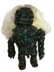 Monstro Primitivo Sofubi Custom Multi-Paint Rub on Black Spray Frank Mysterio Mexafubi Designer Art Toy