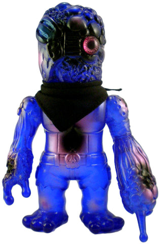 RealxHead Bruised Mutant Chaosman Sofubi Blue w/ Violet and Black Spray Soft Vinyl Designer Toy