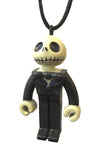 Nightmare Before Christmas Pendant Jack Skeleton Skellington PVC Mini Figure Necklace
