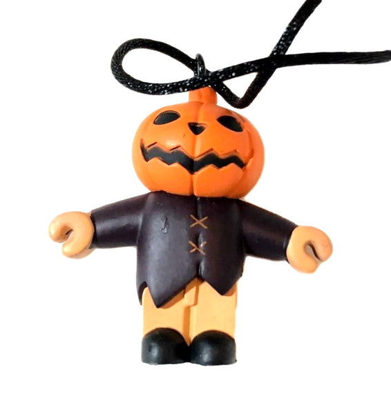 Nightmare Before Christmas Pumpkin King Pendant PVC Mini Figure Necklace