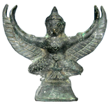 Old Bronze Garuda Statue from Angkor Wat Cambodia 4.5in