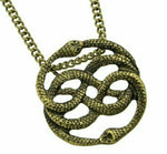 Neverending Story Necklace Auryn Symbol Ouroboros Pendant Oroborous Infinity Snakes