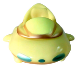 P.P. Pudding UFO Space Ship Vehicle Sofubi GID Japanese Soft Vinyl Figure