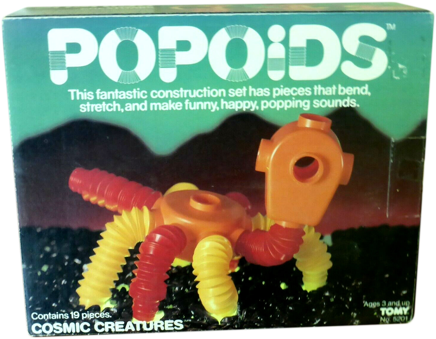 Popoids Cosmic Creatures 19 Pieces 1983 Tomy #5201 Japan 1983 (sealed bags)