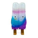 Popsicle Mon Sofubi Designer Toy Figure Clear White Blue Purple Colorway Version