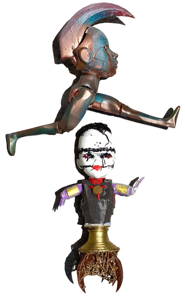 Prom King & Queen of Universe 3030 pla mashup statue disfigured toy art by AEQEA