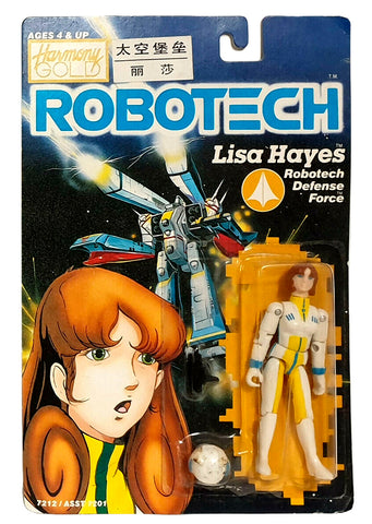 Robotech Macross Lisa Hayes 1985 Action Figure Carded Harmony Gold Retro Sealed on Card