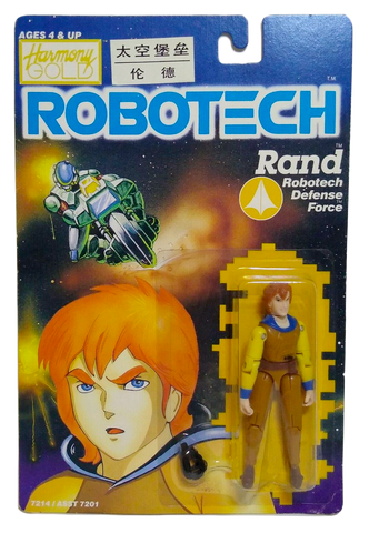 Robotech Macross Rand 1985 Action Figure Carded Harmony Gold Retro Sealed on Card