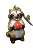 Rascal the Raccoon Vintage Sofubi Araiguma Rasukaru Patrasche & Rascal Coon Pocket Money Pendant Thing At That Time Soft Vinyl Anime Figure