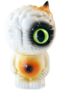 RealxHead Chaos Q Bean Sofubi Burnt Marshmallow Painted Edition Soft Vinyl Figure