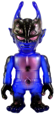 RealxHead Mutant Evil Bruised Edition Sofubi Blue w/ Pink Spray Soft Vinyl Figure