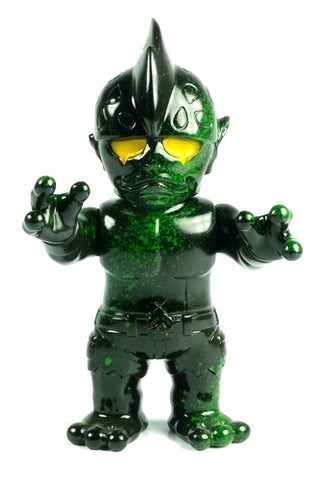 RealxHead Mutant Head Sofubi Green Splatter Black Soft Vinyl Figure