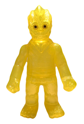 RealxHead ShintoSan Sofubi Transparent Yellow Clear Soft Vinyl Unpainted Blank Figure Designer Toy
