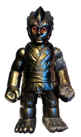 RealxHead ShintoSan Black Metallic Silver Color Sofubi Soft Vinyl Figure Designer Toy