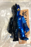 RealxHead ShintoSan Sofubi Black Blue & Silver Spray Metallic Soft Vinyl Figure Designer Toy