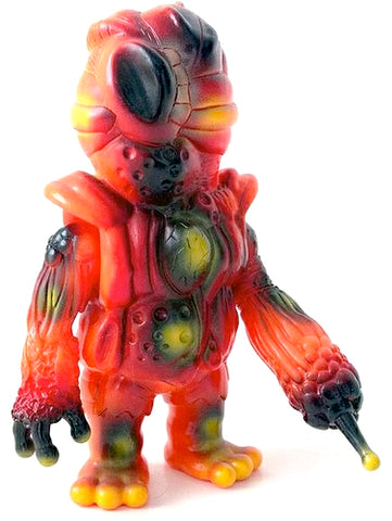RealxHead Organ Bat Mutant Zombie Orange Sofubi Soft Vinyl Figure Designer Toy