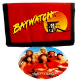 "Retro Baywatch Wallet Vintage Red Billfold 5"" Authentic 1996 New Old Stock w/ Tags"