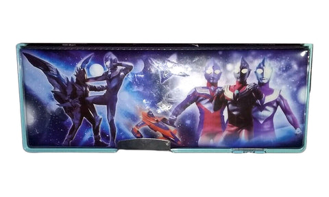 Retro Ultraman Tiga Pencil Case Kaiju Stationary Storage Box 1996 Tsuburaya Prod