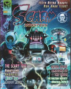 Scary Monsters Magazine #115 Winter 2019 Retro Robots, Androids, Outer Space Horror