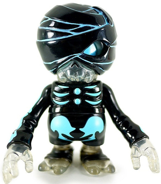 Secret Base Damage Brain Black Mummy Neon Blue Sofubi Soft Vinyl Designer Art Toy Figure