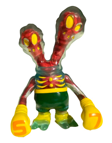 Secret Base Ghostfighter Sofubi Inner Demons Clear Blue +Red Plush Insert Guts SDCC '07