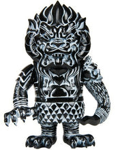 Load image into Gallery viewer, Super7 Mongolion Lucky Bag 2011 Edition Sofubi L'amour Supreme Designer Black Vinyl Toy w/ White Spray