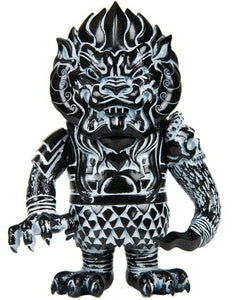 Super7 Mongolion Lucky Bag 2011 Edition Sofubi L'amour Supreme Designer Black Vinyl Toy w/ White Spray