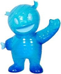 Super7 Mummy Boy Hour of the Wolf Clear Blue Painted Glitter Sofubi Kaiju by Brian Flynn x Gargamel