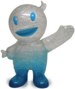 Super7 Mummy Boy Clear Glitter Painted Blue Sofubi LB Kaiju by Brian Flynn x Gargamel