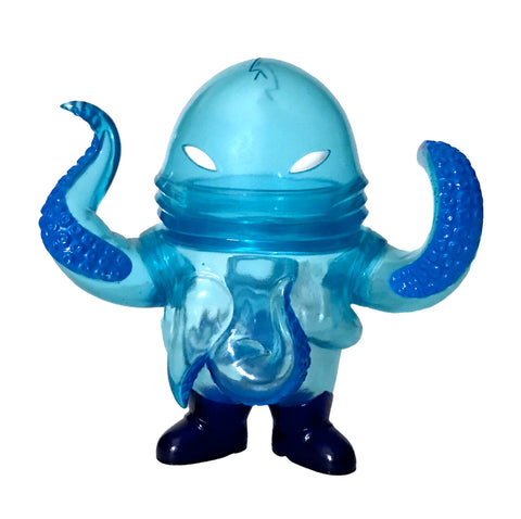 Super7 Squirm Underwater Sofubi Snakes of Infinity Clear Blue Kaiju Soft Vinyl Designer Art Toy Figure