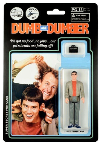 Dumb and Dumber Super Secret Fun Club Jim Carey / Lloyd Christmas Action Figure Carded Edition of 15