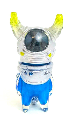 Uky Daydreamer Ometeotl Sofubi Clear Silver Blue Gold Soft Vinyl Japanese Alien Figure