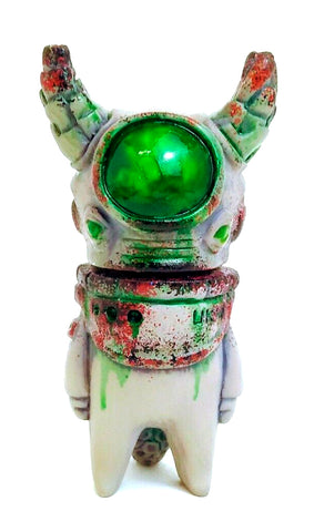 Uky Daydreamer Ometeotl Sofubi Grey Decay Green Soft Vinyl Japanese Alien Figure