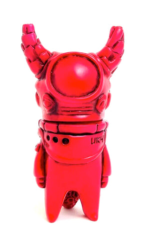 Uky Daydreamer Ometeotl Sofubi Red w/ Black Rub Soft Vinyl Japanese Alien Figure