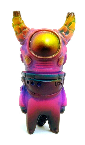 Uky Daydreamer x Rampage Toys Ometeotl Sofubi Pink Blue Gold Soft Vinyl Japanese Alien Figure