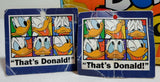 Vintage Disney Donald Duck 80's Greek Gattegno Pencil Case Loaded Unused Stationary