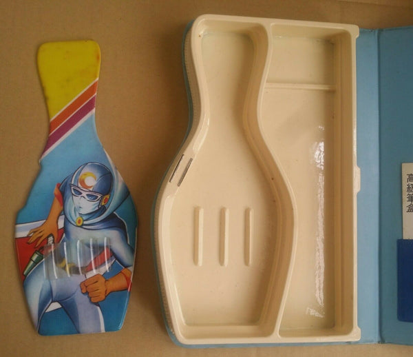 Vintage Gekko Kamen MoonLight Mask Pencil Case Magnetic Pen Holder 1980's Stationery