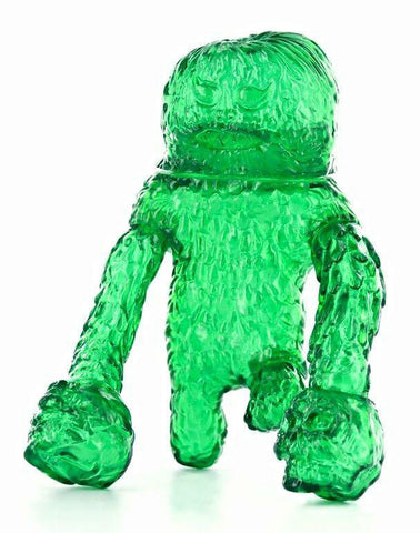 WaoToyz Forest Monsta Kaiju Sofubi Clear Green Soft Vinyl Edition Designer Toy Figure by LuluBell
