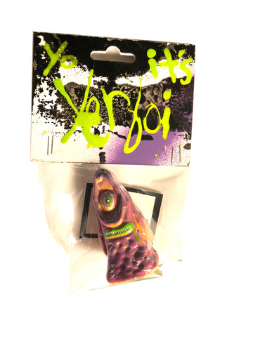 Yo Waddup It's YERBOI Burple Drank Custom Resin Art Toy on Hand-Painted Header Card by AEQEA