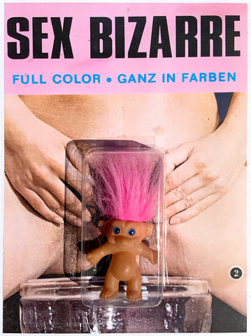 AEQEA 'Bizarre Sex' authentic retro Troll Doll figure custom carded adulterated vintage magazine print toy art